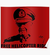 Free Helicopter Rides Poster