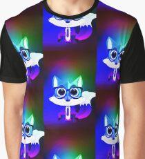 Fox Nerd - Retro Rainbow Graphic T-Shirt