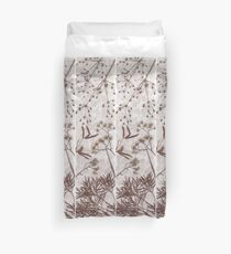 Dried Grasses and Flowers Duvet Cover