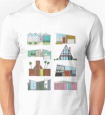 Mid Century Modern Houses Unisex T-Shirt