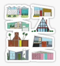 Mid Century Modern Houses Sticker
