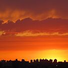 Tangerine Sky over New York City  by Alberto  DeJesus