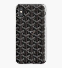 Black Go Goyard Graph iPhone Case/Skin