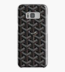Black Go Goyard Graph Samsung Galaxy Case/Skin