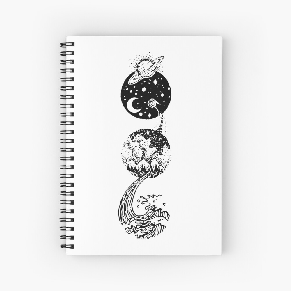 Star Dust to Sea Foam Spiral Notebook