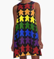 Gay Pride (Meeple Edition) A-Line Dress