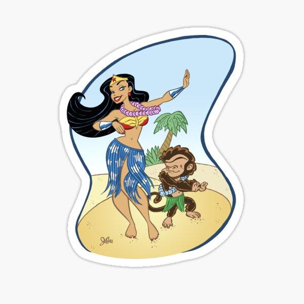 Hula Diana and Monkey! Sticker