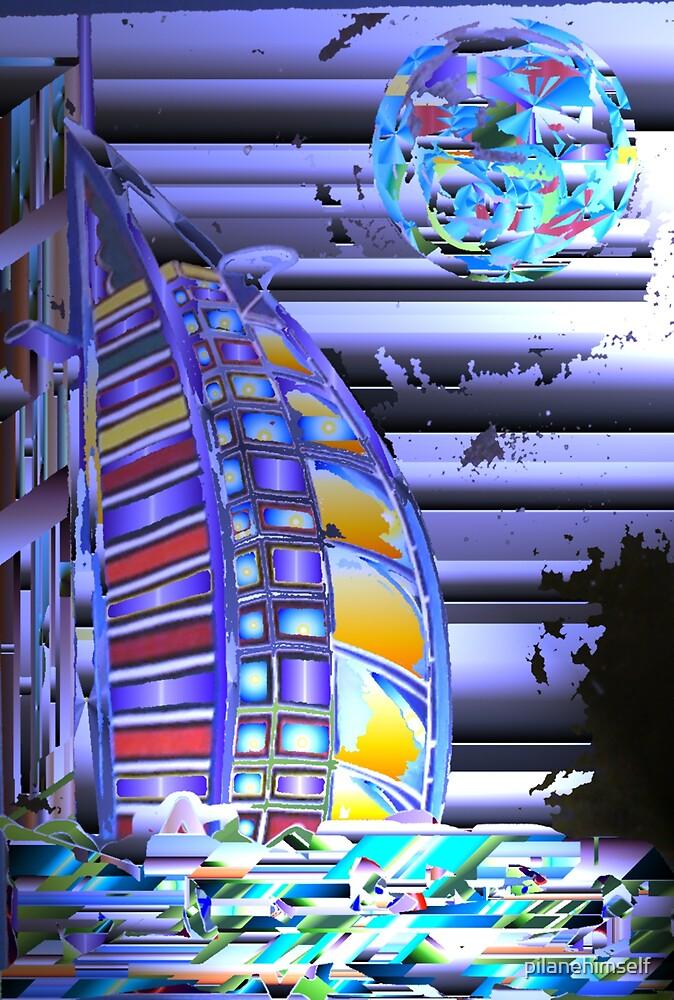Burj and Light by pilanehimself