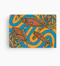 Aarli - (school of fish) irralb season (autumn) Canvas Print