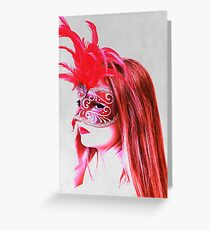 The girl in the mask PII Greeting Card
