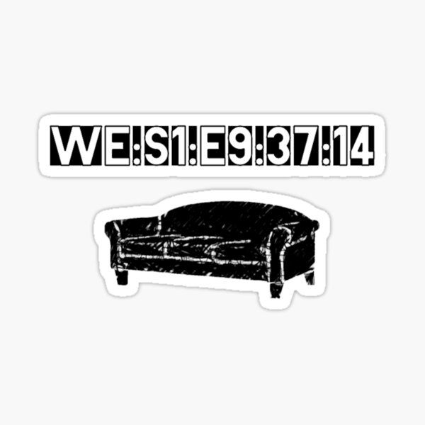 WE:S1:E9:37:14 Sticker