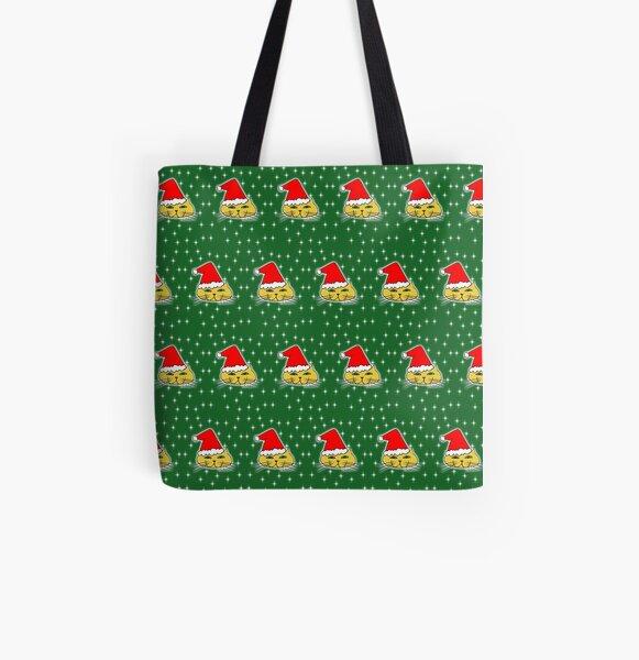 Christmas Santa Cat All Over Print Tote Bag
