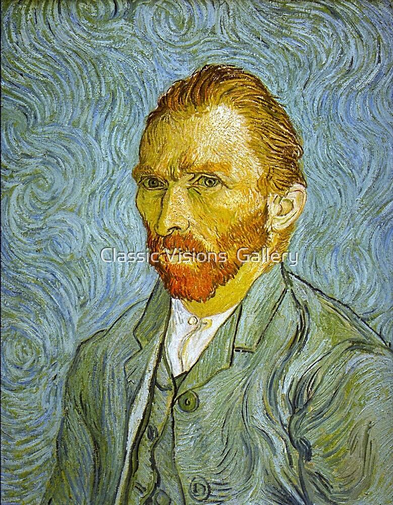 'Self Portrait' by Vincent Van Gogh (Reproduction) by Roz Abellera