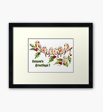 Season's Greetings!  7 Little Birds Framed Print