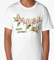 Season's Greetings!  7 Little Birds Long T-Shirt