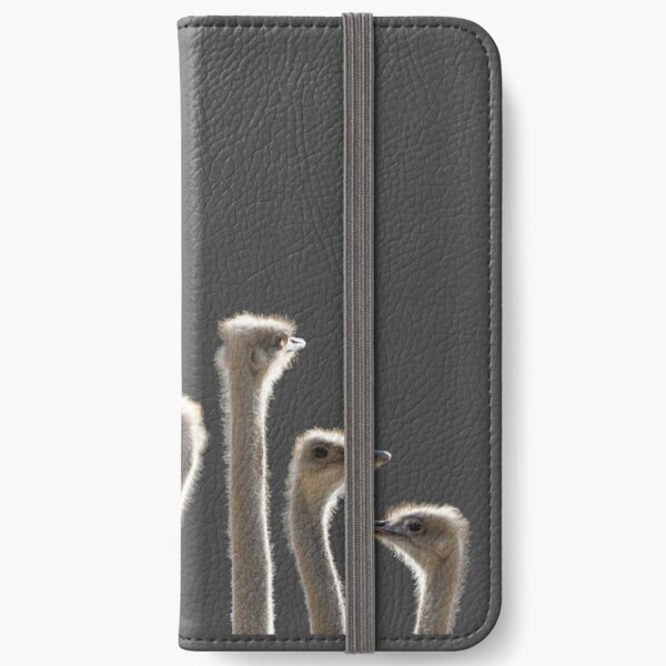 Ostrich heads and necks iPhone Wallet