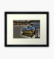 River  Reflections Marlo Vic. Framed Print