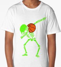 Halloween Dabbing Skeleton BASKETBALL T-Shirt Skeleton Dab Long T-Shirt