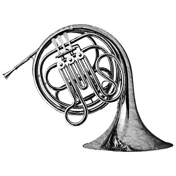 French Horn Musical Instrument. by digitaleclectic