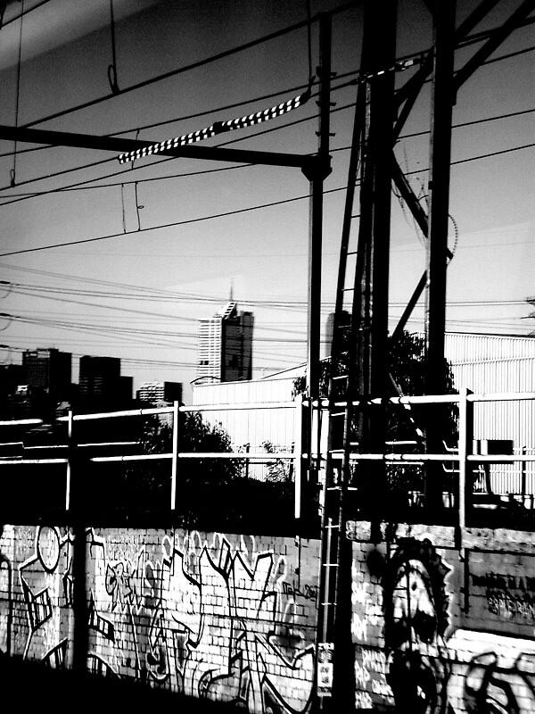 Spencer st station train tracks by jsnape