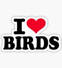 I love Birds Sticker