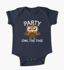 Party Owl The Time  One Piece - Short Sleeve