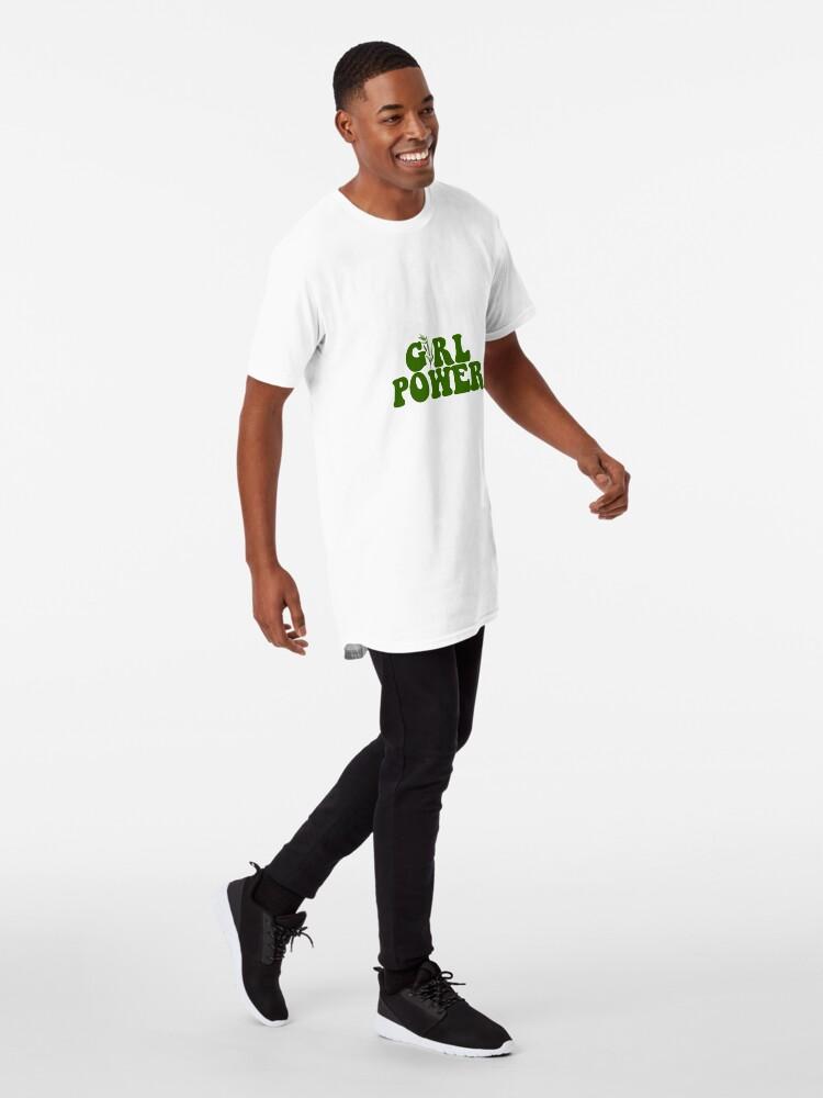 Vista alternativa de Camiseta larga GIRL POWER - Estilo 10