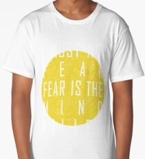 Dune - The Litany Against Fear (White) Long T-Shirt