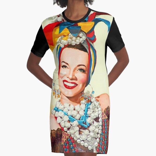Painting of Carmen Miranda  Graphic T-Shirt Dress