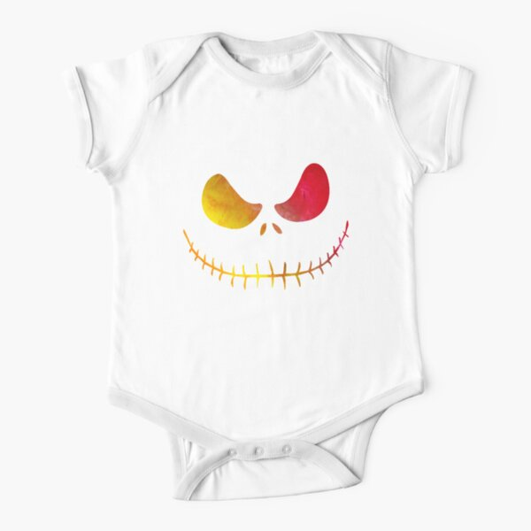 Jack-o Skellington Short Sleeve Baby One-Piece