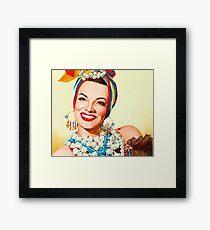 Painting of Carmen Miranda  Framed Print