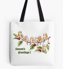 Season's Greetings!  7 Little Birds Tote Bag