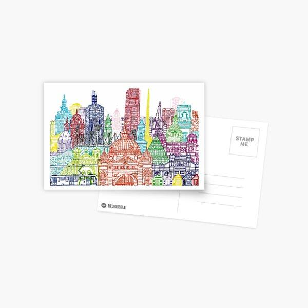 Melbourne Towers  Postcard