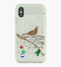 Season's Greetings - Birds Singing With Joy iPhone Case