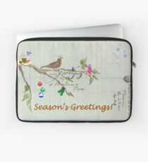 Season's Greetings - Birds Singing With Joy Laptop Sleeve