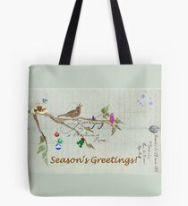 Season's Greetings - Birds Singing With Joy Tote Bag