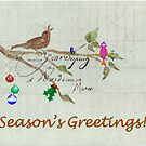 Season's Greetings - Birds Singing With Joy by Maree Clarkson