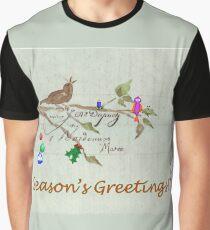 Season's Greetings - Birds Singing With Joy Graphic T-Shirt