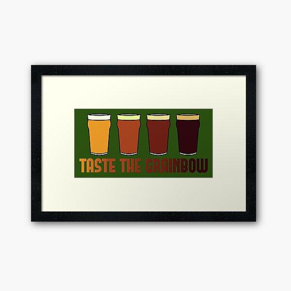 Taste the Grainbow Framed Art Print