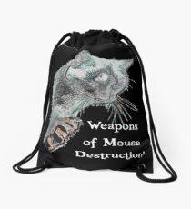 Weapons of Mouse Destruction! Drawstring Bag