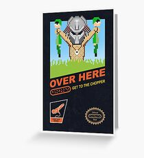 Over here! Greeting Card