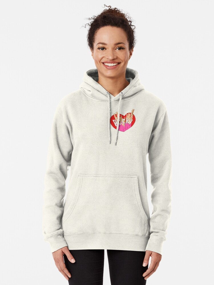 Alternate view of Strawberry Pocky Illustration Pullover Hoodie