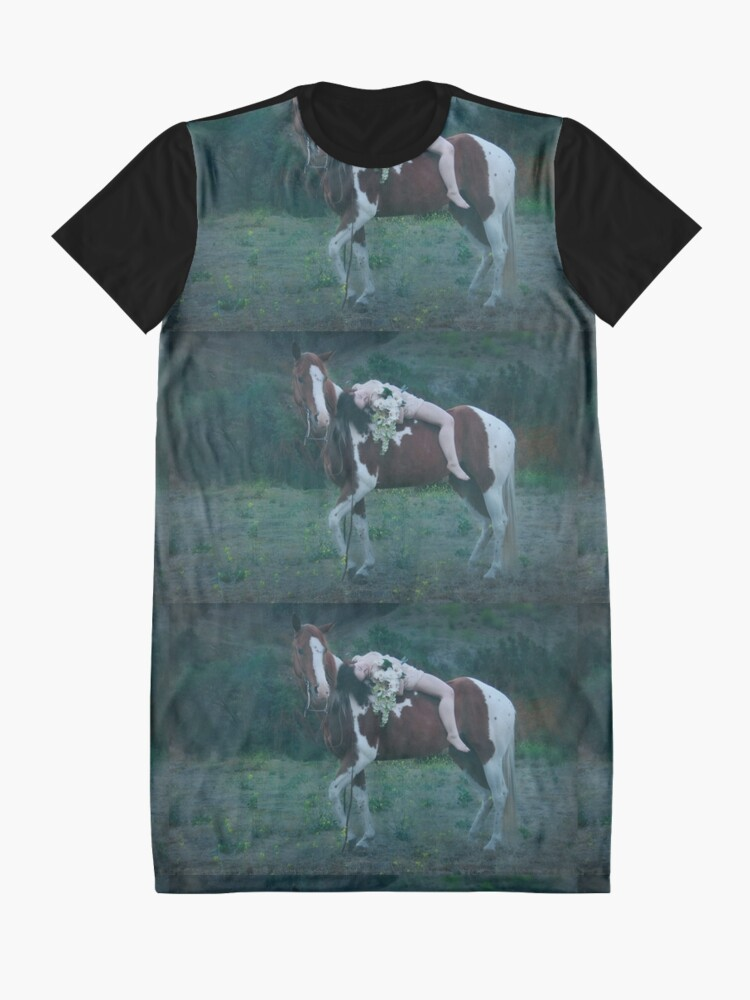 Alternate view of Where Dreams and Shadows Lie Graphic T-Shirt Dress