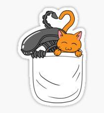 Alien & Jonesy Pocket Sticker