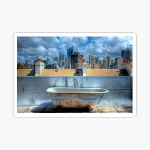 Old Bathtub on Rooftop - Darlinghurst, Sydney, Australia Sticker