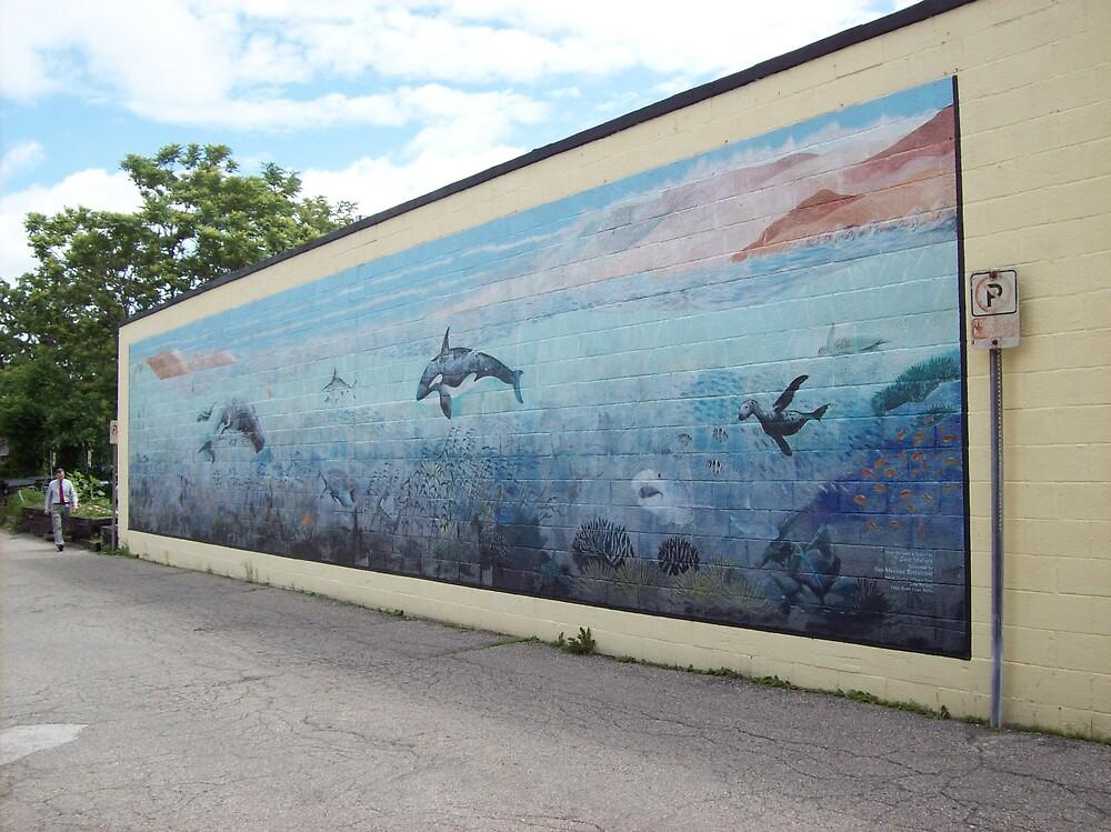 aqua mural by ariyahjoseph