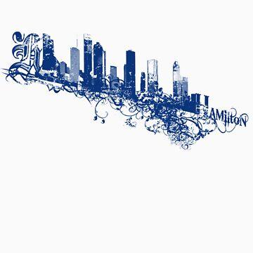 urban city skyline by hamiltonarts