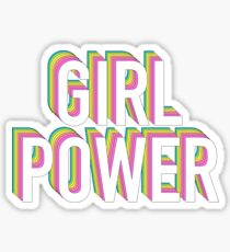 Pegatina Girl Power Neon Rainbow