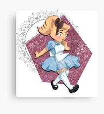 Angie in Wonderland Canvas Print