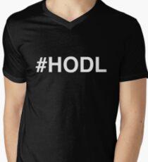 #HODL White Men's V-Neck T-Shirt
